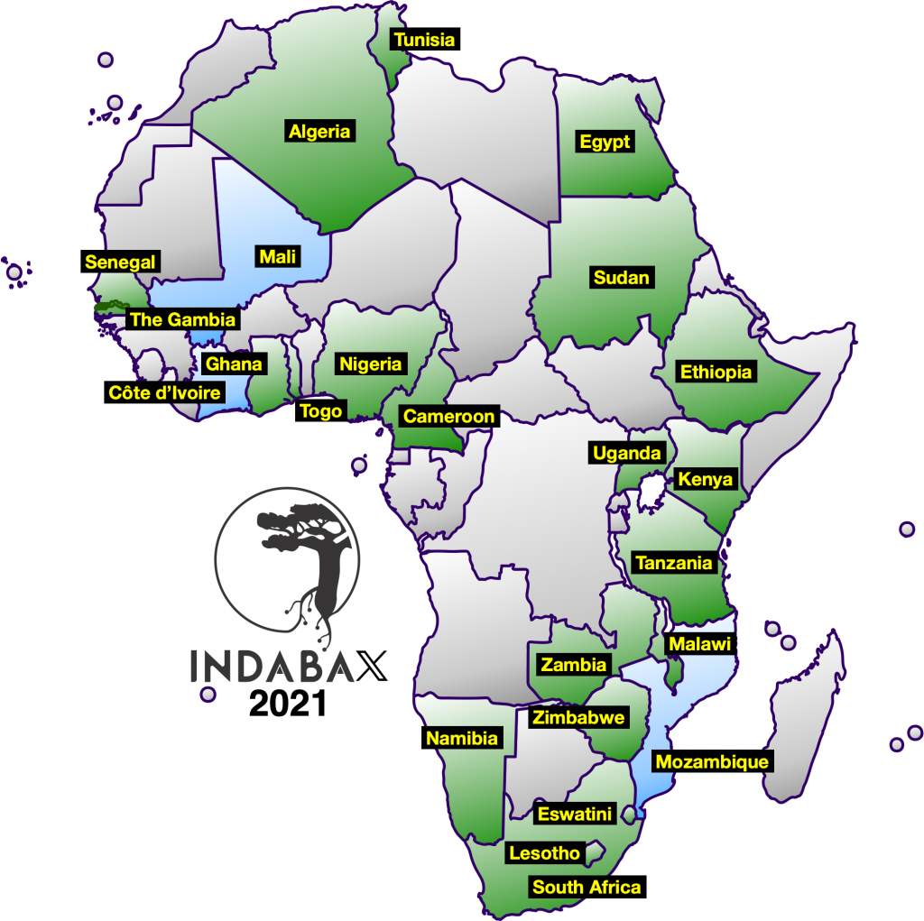 24 IndabaX 2021 Host Countries